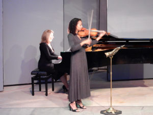 Celebrated violinist Nokuthula Ngwenyama with pianist Luba Brodsky